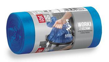Пакеты для мусора 35л. 50шт. Anna Zaradna синие