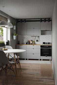 Кухня 2000 МДФ Серый