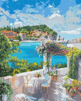 Картина по номерам 50x65 см Завтрак у моря 12834