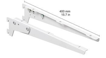 cumpără Clemă unghiulară înclinabilă 400 mm, 1 pereche, alb în Chișinău