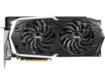 MSI GeForce RTX 2070 ARMOR 8G OC /  8GB DDR6 256Bit 1740/14000Mhz, 1x HDMI, 3x DisplayPort, 1x USB Type-C, Dual fan - Armor Thermal Design (Zero Frozr/Airflow Control Technology), TORX Fan2.0 with Double Ball Bearings, RGB Mystic Light, Retail