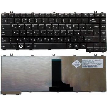 Keyboard Toshiba Satellite C640 C645 L630 L635 L640 L645 L705 L730 L735 L740 L740D L745 ENG/RU Black