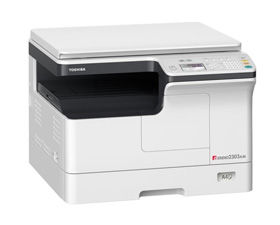 MFP Toshiba e-Studio 2303AM, Mono Copier/Printer/Scanner/Net, A3/14ppm, A4/23ppm, 2400x600dpi, 25–400%, 52-216g/m2,512Mb, 1x250+100-sheet ,59k pag per month, Starter KIT: Drum OD-2505_59k pag, Developer D-2505_65k pag,Toner T-2309E_17500 par A4 at 6%