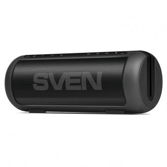 SVEN PS-250BL, Bluetooth Portable Speaker, 10W RMS, Support for iPad & smartphone, Bluetooth v.2.1 +EDR,FM tuner, USB & microSD, built-in lithium battery -2200 mAh (up to 20 hours), ability to control the tracks, AUX stereo input, Headset mode, Black