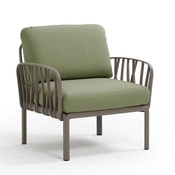 Кресло с подушками для сада и терас Nardi KOMODO POLTRONA TORTORA-giungla Sunbrella 40371.10.140