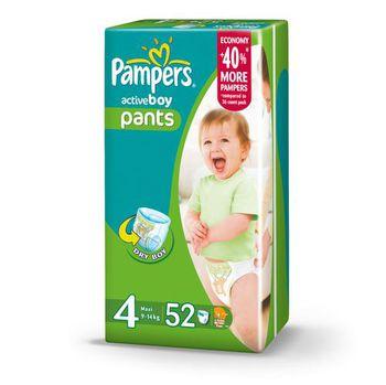 PAMPERS JUMBO ACTIVE BOY 4 (9-14 kг) (52 шт.)