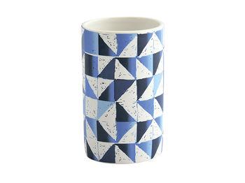 Стакан для зубных щeток Calula, голубой, керамика