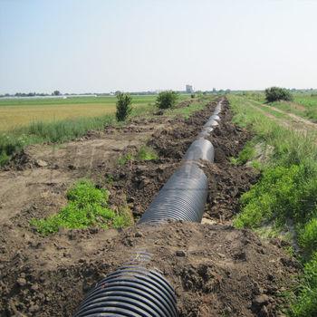 купить Труба гофрированная канализационная HDPE SN4 OD. 500 (426) с растр.и манжетой L=6m в Кишинёве