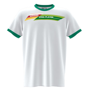 Футболка JOMA - SLEEVE T-SHIRT WHITE GREEN