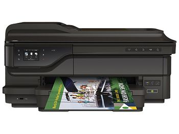 HP Officejet 7612 Wide A3+ Format print, copy, scan, fax, web, up to 15ppm, 4800x1200dpi, 34-250g/m2, 256 Mb Memory, 35-sh ADF, 6.7 cm TouchSmart Frame, Duty cycle monthly 12000 pages, USB 2.0, Ethernet, Wireless 802.11b/g/n (932/XLBk/933XL/C/M/Y)