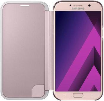 купить Чехол для моб.устройства Samsung EF-ZA720, Galaxy A7 2017, Clear View Cover, Pink в Кишинёве