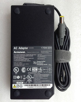 AC Adapter Charger For Lenovo 20V-8.5A (170W) Round DC Jack 7.9*5.5mm w/pin inside  Original