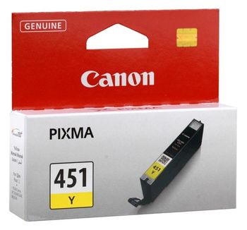 Cartridge Canon CLI-451 Y, yellow  7ml for iP7240 & MG5440,6340