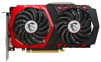 MSI GeForce GTX 1050Ti GAMING X 4G /  4GB DDR5 128Bit 1493/7108Mhz (OC Mode), DVI, HDMI, DisplayPort, Dual fan - TWIN FROZR VI (Zero Frozr/Airflow Control Technology), TORX 2.0 FAN, Gaming App, Retail
