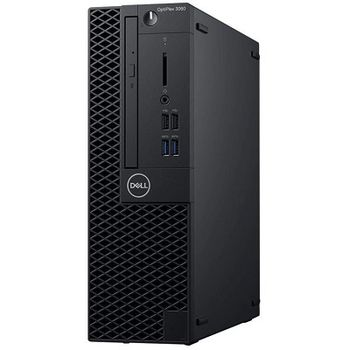 DELL OptiPlex 3060 SFF lnteI® Core® i3-8100 +W10Pro (Quad Core, 3.60GHz, 6MB), 8GB DDR4 RAM, 256GB SSD, DVD-RW, lnteI® UHD630 Graphics, TPM, 200W PSU, USB mouse, USB KB216-B, Win 10 Pro, Black
