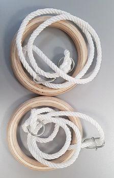 Гимнастические кольца d=18 см, l=160 cm (макс. 80 кг) Spartan 1719 (4790)