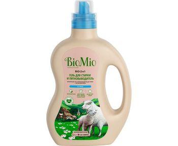 Гель и пятновыводитель для белья BioMio без запаха, 1,5 л
