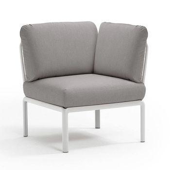 Кресло модуль угловой с подушками Nardi KOMODO ELEMENTO ANGOLO BIANCO-grigio 40374.00.163