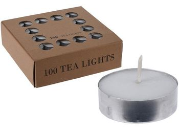 Свечи чайные 100шт, 4 часа, D3.8cm, H1.2cm