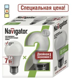 купить (BA) LED (7Wt) 2 в 1 NLL-A55-7-230-4K-E27/2PACK в Кишинёве