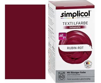 SIMPLICOL Intensiv - Rubin-Rot, Vopsea pentru haine si textile in masina de spalat, Rosu-Rubin