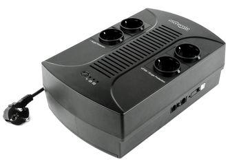 Gembird EnerGenie EG-UPS-001, 650VA / 390W, UPS with AVR, 4x Schuko outlets, LED status indication