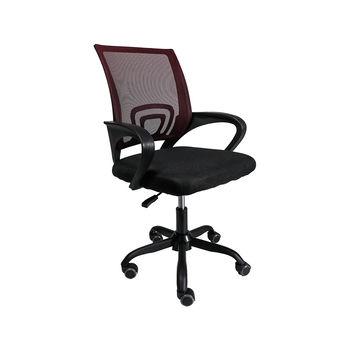 Офисное кресло 6386 красная сетка