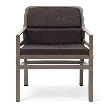 Кресло с подушками Nardi ARIA FIT TORTORA caffe 40330.10.165.FIT (Кресло с подушками для сада и терас)