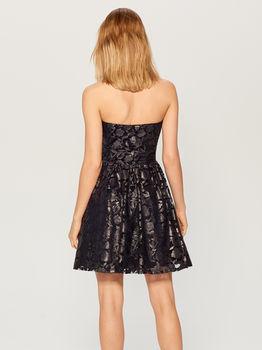 Платье MOHITO Темно синий с принтом vk599-95x