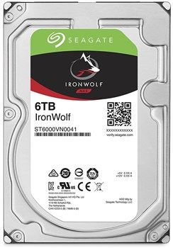 "3.5"" HDD 6.0TB  Seagate ST6000VN0041  IronWolf™ NAS, 7200rpm, 128MB, SATAIII"