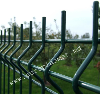 cumpără Panou gard bordurat zincat şi vopsit  -  H 1030 mm - L -2500mm , D-4.0mm în Chișinău