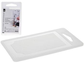 Доска разделочная пластиковая EH 25X15сm, белая