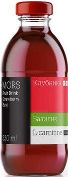 cumpără Mors + L-carnitine strawberries with basil 330ml în Chișinău