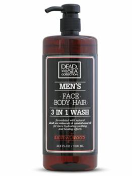 купить DSC29 Гель для душа, волос и лица для мужчин 3 в 1 Sandalwood 1000 мл в Кишинёве