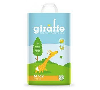 купить Подгузники  Lovular Giraffe M (6-11 kg) 62 шт в Кишинёве