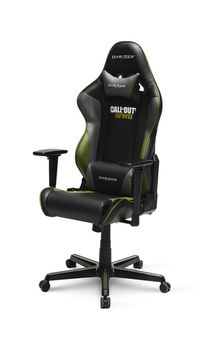 Gaming Chairs DXRacer - Racing GC-R52-NGE-Z1, Black/Grey/Green - PU leather, Gamer weight up to 100kg / growth 165-195cm, Foam Density 50kg/m3, 5-star Aluminum IC Base, Gas Lift 4 Class, Recline 90*-135*, Armrests: 3D, Pillow-2, Caster-2*PU, W-23kg