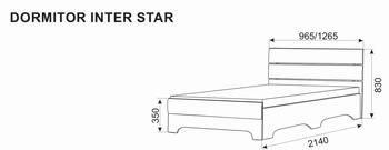 Кровать Inter-star 1,2 м
