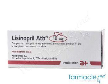 купить Lisinopril comp. 10 mg N10x3(Antibiotice) в Кишинёве