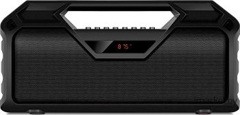 SVEN PS-410 Black, Bluetooth Portable Speaker, 14W RMS, LED display, Support for iPad & smartphone, FM tuner, USB & microSD, built-in lithium battery -2000 mAh, ability to control the tracks, AUX stereo input