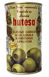 купить HUTESA Зелёные Оливки с Анчоусом(в расоле). 350гр  ИСПАНИЯ в Кишинёве