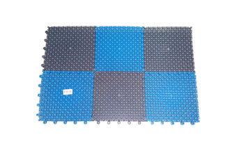 купить Коврик для прихожей (серый/голубой) 41см x 54см в Кишинёве