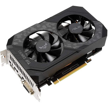 Видеокарта ASUS TUF-GTX1650-4GD6-P-GAMING, GeForce GTX1650 4GB GDDR6, 128-bit, GPU/Mem clock 1620/12002MHz, PCI-Express 3.0, DVI/HDMI/Display Port (placa video/видеокарта)