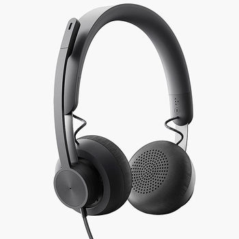 Проводные наушники с микрофоном Logitech Headset Zone Wired MSFT Teams, USB-C, USB-A adapter included, Stereo On-Ear, Advanced noise-canceling mic technology 981-000870