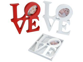 "Фоторамка Valentine ""Love"" 20X22cm, красная/белая"