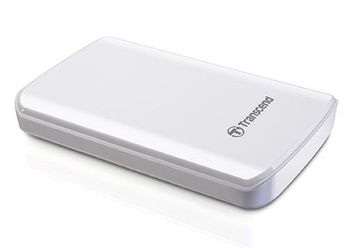 "купить 1.0TB (USB3.0) 2.5"" Transcend ""StoreJet 25D3"", Glossy White, Shock-Resistant в Кишинёве"