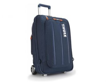 """THULE Travel Bag - Crossover Carry-on 22""""/56cm, Dark Blue, Safe-zone, Dobby Nylon, Dimensions 38.5 x 21 x 56 cm, Weight 3.5 kg, Volume 38L, Hybrid Backpack and Roller Bag"""