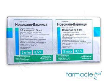 купить Novocaina sol.inj. 0.5% 5ml N5x2 (Darnita) в Кишинёве
