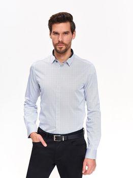Рубашка TOP SECRET Белый/синий SKL2757BI