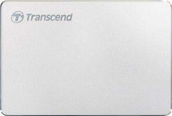 "2.5"" External HDD 1.0TB (USB3.0/Type-C) Transcend StoreJet 25С3S, Silver, Alum.casing, Crafted w.aluminum anodizing and CNC milling technology, Exclusive Transcend Elite, Software compatible Mac OS X"
