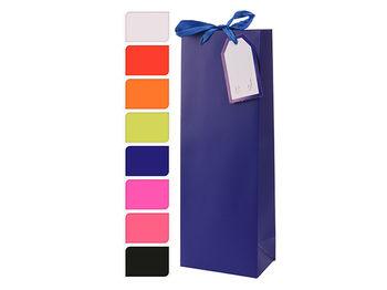 Пакет подарочный для бутылки, 36Х12.8Х8.4сm, бумага, 8 цвет